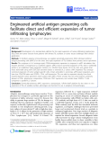 """Báo cáo sinh học: """"Engineered artificial antigen presenting cells facilitate direct and efficient expansion of tumor infiltrating lymphocytes"""""""