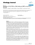 """Báo cáo sinh học: """"  Regulation of FeLV-945 by c-Myb binding and CBP recruitment to the LTR"""""""