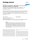 """Báo cáo sinh học: """" The Israeli strain IS-98-ST1 of West Nile virus as viral model for West Nile encephalitis in the Old World"""""""