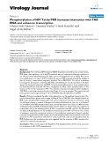 """Báo cáo sinh học: """"  Phosphorylation of HIV Tat by PKR increases interaction with TAR RNA and enhances transcription"""""""