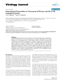 """Báo cáo sinh học: """"  International Committee on Taxonomy of Viruses and the 3,142 unassigned species"""""""