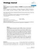 """Báo cáo sinh học: """"  Chloroquine is a potent inhibitor of SARS coronavirus infection and spread"""""""