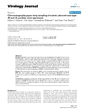 "Báo cáo sinh học: ""  Chromatography paper strip sampling of enteric adenoviruses type 40 and 41 positive stool specimens"""
