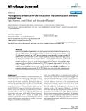 "Báo cáo sinh học: ""Phylogenetic evidence for the distinction of Saaremaa and Dobrava hantaviruses"""