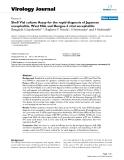 "Báo cáo sinh học: "" Shell Vial culture Assay for the rapid diagnosis of Japanese encephalitis, West Nile and Dengue-2 viral encephalitis"""