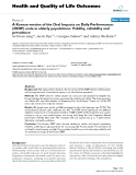 """Báo cáo hóa học: """" A Korean version of the Oral Impacts on Daily Performances (OIDP) scale in elderly populations: Validity, reliability and prevalence"""""""