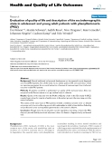 "Báo cáo hóa học: "" Evaluation of quality of life and description of the sociodemographic state in adolescent and young adult patients with phenylketonuria (PKU)"""