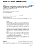 """Báo cáo hóa học: """" Development and preliminary evaluation of the participation in life activities scale for children and adolescents with asthma: an instrument development study"""""""