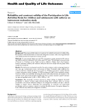 """Báo cáo hóa học: """" Reliability and construct validity of the Participation in Life Activities Scale for children and adolescents with asthma: an instrument evaluation study"""""""