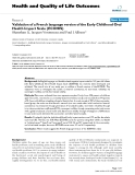 "báo cáo hóa học: "" Validation of a French language version of the Early Childhood Oral Health Impact Scale (ECOHIS)"""