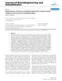 "báo cáo hóa học: "" Mechanisms of human cerebellar dysmetria: experimental evidence and current conceptual bases"""