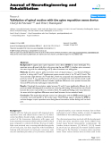 "báo cáo hóa học: ""Validation of spinal motion with the spine reposition sense device"""