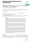 "báo cáo hóa học: ""Pilot study of Lokomat versus manual-assisted treadmill training for locomotor recovery post-stroke"""