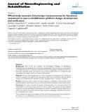 "báo cáo hóa học: ""Whole-body isometric force/torque measurements for functional assessment in neuro-rehabilitation: platform design, development and verification"""