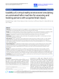 """báo cáo hóa học: """"Usability of a virtual reality environment simulating an automated teller machine for assessing and training persons with acquired brain injury"""""""