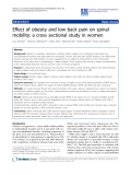"báo cáo hóa học: ""Effect of obesity and low back pain on spinal mobility: a cross sectional study in women"""
