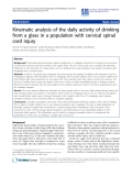 "Báo cáo hóa học: "" Kinematic analysis of the daily activity of drinking from a glass in a population with cervical spinal cord injury"""