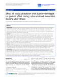 """Báo cáo hóa học: """"  Effect of visual distraction and auditory feedback on patient effort during robot-assisted movement training after stroke"""""""