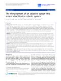"Báo cáo hóa học: ""  The development of an adaptive upper-limb stroke rehabilitation robotic system"""
