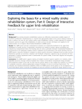 """Báo cáo hóa học: """"  Exploring the bases for a mixed reality stroke rehabilitation system, Part II: Design of Interactive Feedback for upper limb rehabilitation"""""""