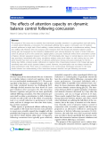 """Báo cáo hóa học: """"  The effects of attention capacity on dynamic balance control following concussion"""""""