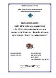 Luận văn tốt nghiệp: Phân tích hiệu quả Marketing của Dòng sản phẩm Tour du lịch trong nước ở Trung tâm điều hành du lịch thuộc Công ty Canthotourist