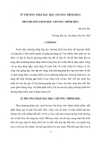 Báo cáo nghiên cứu khoa học: TỪ PHƯƠNG PHÁP DẠY HỌC CHƯƠNG TRÌNH HÓA ĐẾN PHƯƠNG PHÁP HỌC CHƯƠNG TRÌNH HÓA
