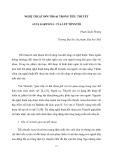"""Báo cáo nghiên cứu khoa học """" NGHỆ THUẬT ĐỐI THOẠI TRONG TIỂU THUYẾT ANNA KARENINA CỦA LÉP TÔNXTÔI  """""""