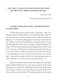 """Báo cáo nghiên cứu khoa học """" THỰC TRẠNG VÀ MỘT SỐ GIẢI PHÁP CHO HOẠT ĐỘNG ĐÁNH BẮT THỦY SẢN TỰ NHIÊN TẠI ĐẦM PHÁ TAM GIANG """""""