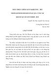 """Báo cáo nghiên cứu khoa học """"HOÀN THIỆN CHÍNH SÁCH MARKETING - MIX TRONG KINH DOANH KHÁCH SẠN, QUA VÍ DỤ TẠI KHÁCH SẠN SÀI GÒN MORIN - HUẾ  """""""