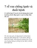 7 rễ rau chống lạnh và đuổi bệnh