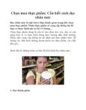 Chọn mua thực phẩm: Cần biết cách đọc nhãn mác