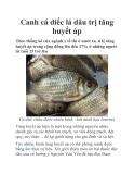 Canh cá diếc lá dâu trị tăng huyết áp