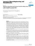 """báo cáo hóa học: """" Attention demanding tasks during treadmill walking reduce step width variability in young adults"""""""