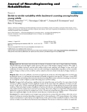 """báo cáo hóa học: """"Stride-to-stride variability while backward counting among healthy young adults"""""""