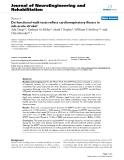 "báo cáo hóa học: "" Do functional walk tests reflect cardiorespiratory fitness in sub-acute stroke?"""