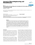 """báo cáo hóa học: """" Muscle-driven forward dynamic simulations for the study of normal and pathological gait"""""""