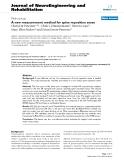 "báo cáo hóa học: "" A new measurement method for spine reposition sense"""