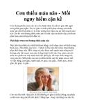 Cơn thiếu máu não - Mối nguy hiểm cận kề