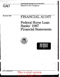 1GA Report to the Congress December 1988 FINANCIAL AUDIT Federal Home Loan Banks 1987_part1