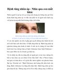 Bệnh tăng nhãn áp - Nhìn qua con mắt khác