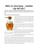 Điều trị viêm họng - Amidan cấp thế nào?