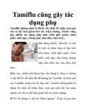 Tamiflu cũng gây tác dụng phụ