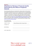 Checklist for Review of Financial Audits Performed by the Office of Inspector General_part1