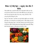 Bảo vệ thị lực – ngày ăn đủ 3 bữa