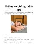 Hệ lụy từ chứng thèm ngủ