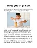 Bài tập giúp trẻ giảm béo