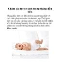 Chăm sóc trẻ sơ sinh trong tháng đầu tiên