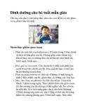 Dinh dưỡng cho bé tuổi mẫu giáo