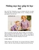 Những mẹo hay giúp bé học nói